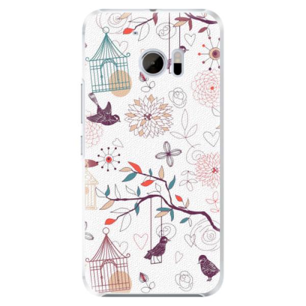 Plastové pouzdro iSaprio - Birds - HTC 10
