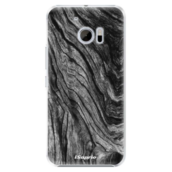 Plastové pouzdro iSaprio - Burned Wood - HTC 10