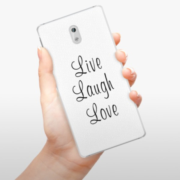 Plastové pouzdro iSaprio - Live Laugh Love - Nokia 3