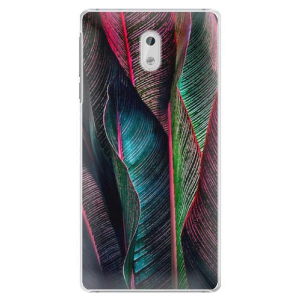 Plastové pouzdro iSaprio - Black Leaves - Nokia 3