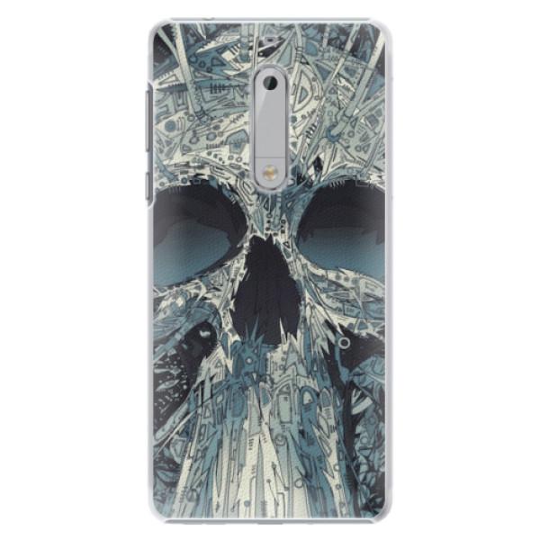 Plastové pouzdro iSaprio - Abstract Skull - Nokia 5