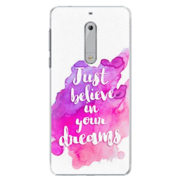 Plastové pouzdro iSaprio - Believe - Nokia 5