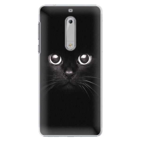 Plastové pouzdro iSaprio - Black Cat - Nokia 5