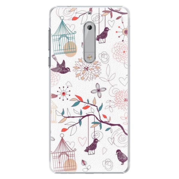 Plastové pouzdro iSaprio - Birds - Nokia 5