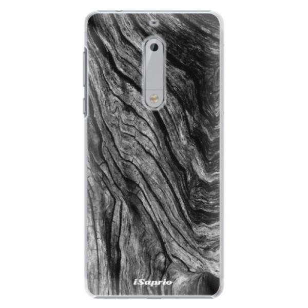 Plastové pouzdro iSaprio - Burned Wood - Nokia 5