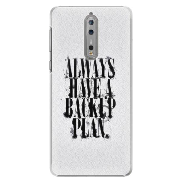 Plastové pouzdro iSaprio - Backup Plan - Nokia 8