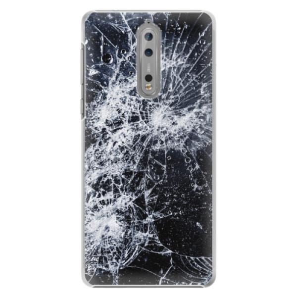 Plastové pouzdro iSaprio - Cracked - Nokia 8