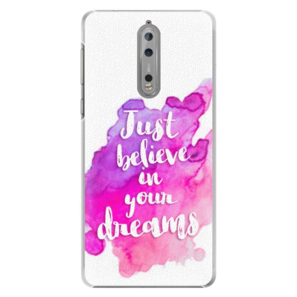 Plastové pouzdro iSaprio - Believe - Nokia 8