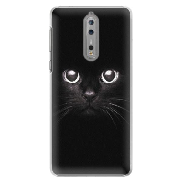 Plastové pouzdro iSaprio - Black Cat - Nokia 8