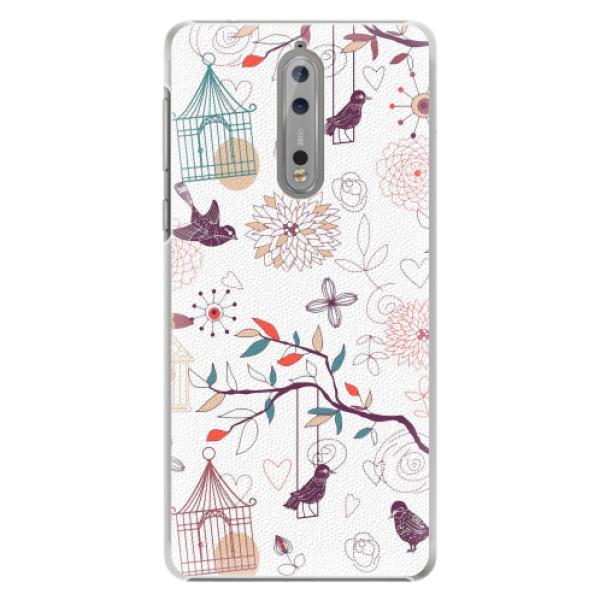 Plastové pouzdro iSaprio - Birds - Nokia 8