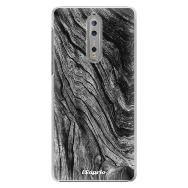 Plastové pouzdro iSaprio - Burned Wood - Nokia 8