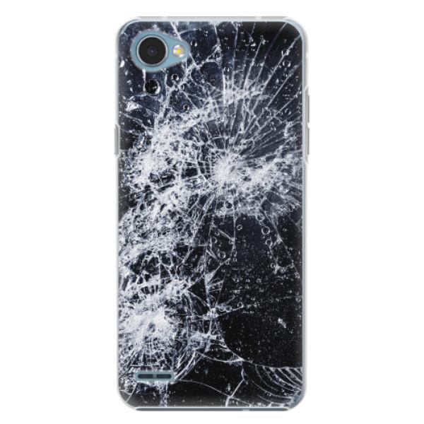 Plastové pouzdro iSaprio - Cracked - LG Q6