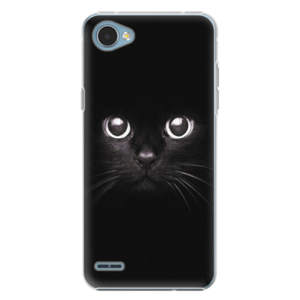 Plastové pouzdro iSaprio - Black Cat - LG Q6