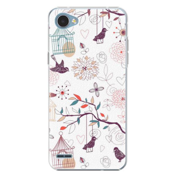 Plastové pouzdro iSaprio - Birds - LG Q6