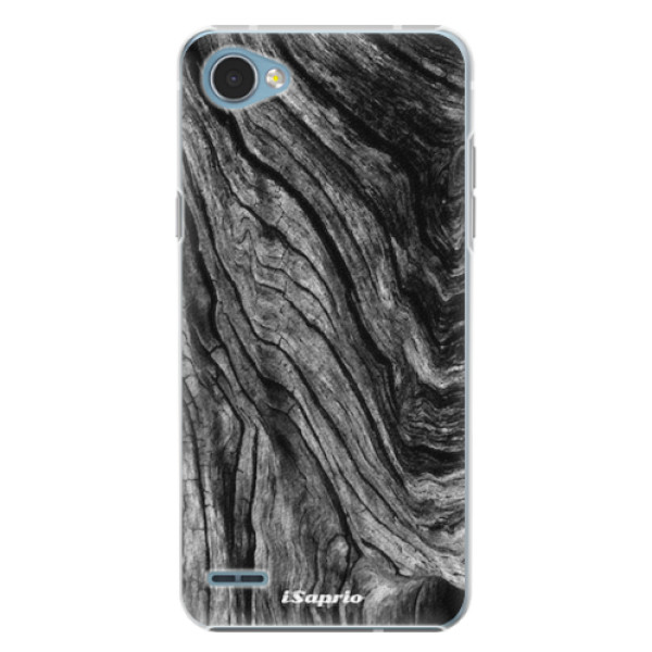Plastové pouzdro iSaprio - Burned Wood - LG Q6