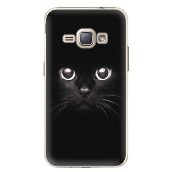 Plastové pouzdro iSaprio - Black Cat - Samsung Galaxy J1 2016