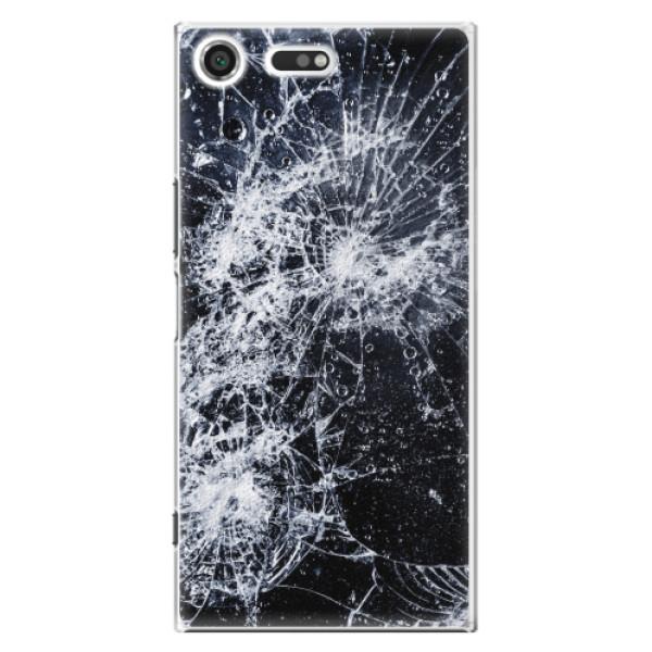 Plastové pouzdro iSaprio - Cracked - Sony Xperia XZ Premium
