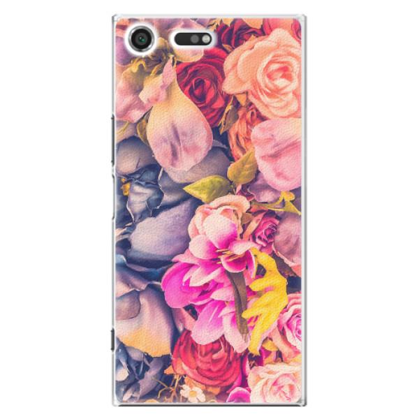 Plastové pouzdro iSaprio - Beauty Flowers - Sony Xperia XZ Premium
