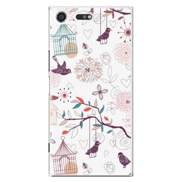Plastové pouzdro iSaprio - Birds - Sony Xperia XZ Premium