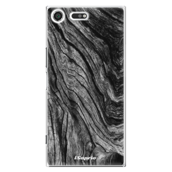 Plastové pouzdro iSaprio - Burned Wood - Sony Xperia XZ Premium