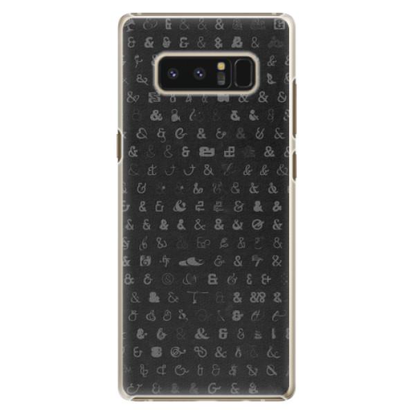 Plastové pouzdro iSaprio - Ampersand 01 - Samsung Galaxy Note 8