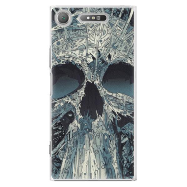 Plastové pouzdro iSaprio - Abstract Skull - Sony Xperia XZ1