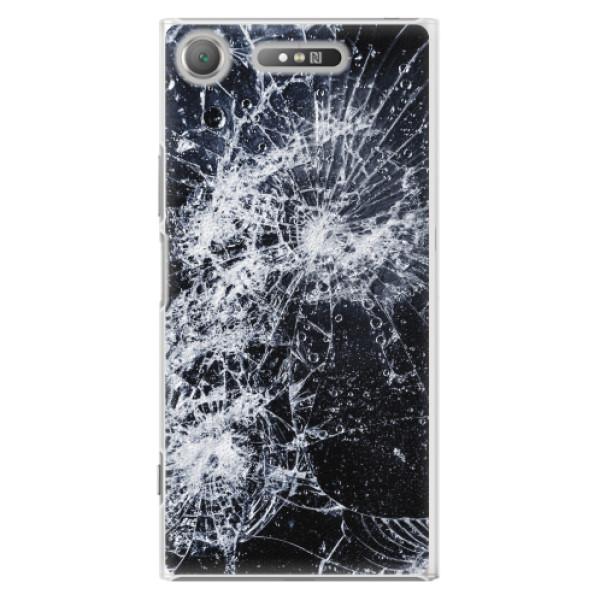 Plastové pouzdro iSaprio - Cracked - Sony Xperia XZ1