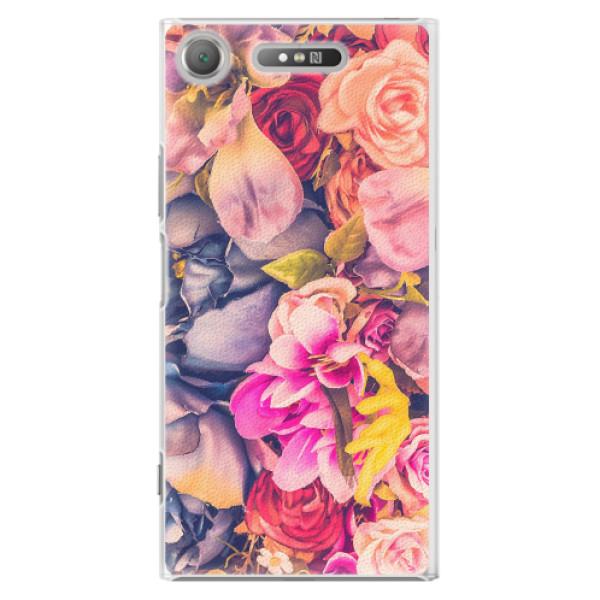 Plastové pouzdro iSaprio - Beauty Flowers - Sony Xperia XZ1