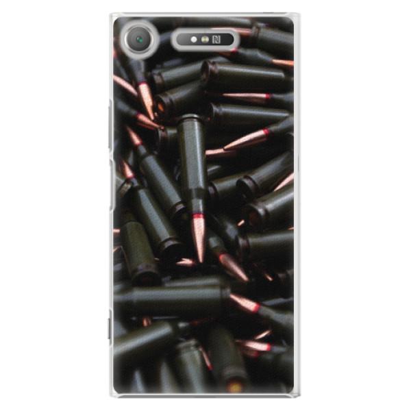 Plastové pouzdro iSaprio - Black Bullet - Sony Xperia XZ1
