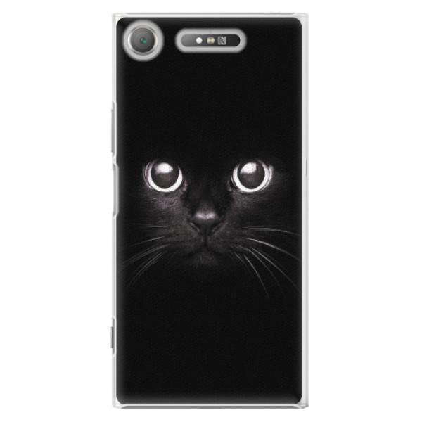 Plastové pouzdro iSaprio - Black Cat - Sony Xperia XZ1
