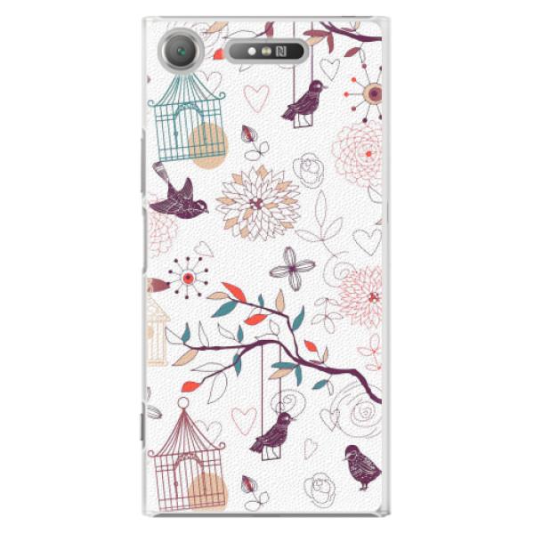 Plastové pouzdro iSaprio - Birds - Sony Xperia XZ1
