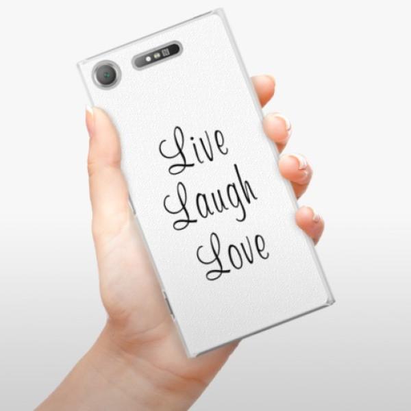 Plastové pouzdro iSaprio - Live Laugh Love - Sony Xperia XZ1
