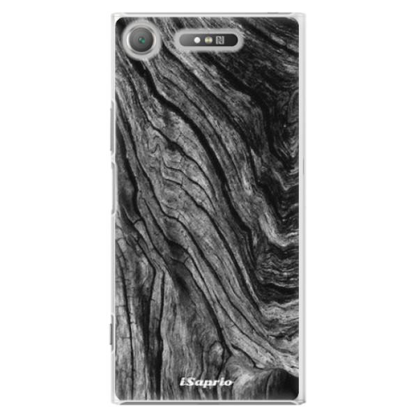 Plastové pouzdro iSaprio - Burned Wood - Sony Xperia XZ1