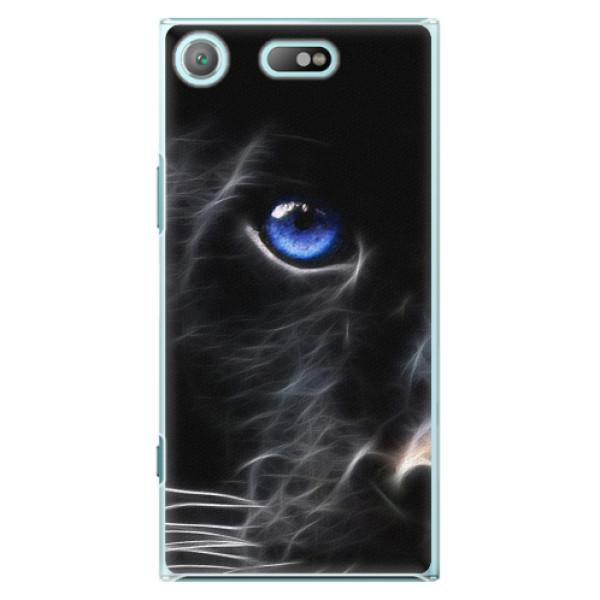 Plastové pouzdro iSaprio - Black Puma - Sony Xperia XZ1 Compact