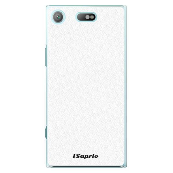 Plastové pouzdro iSaprio - 4Pure - bílý - Sony Xperia XZ1 Compact