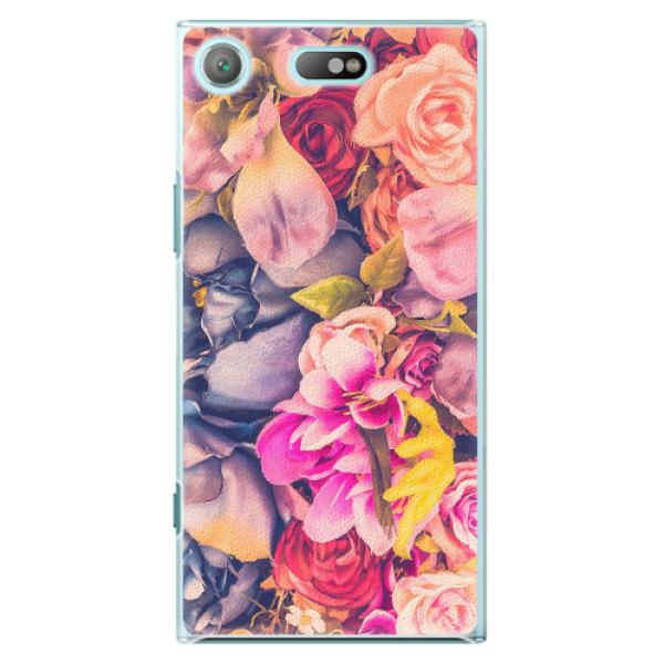 Plastové pouzdro iSaprio - Beauty Flowers - Sony Xperia XZ1 Compact
