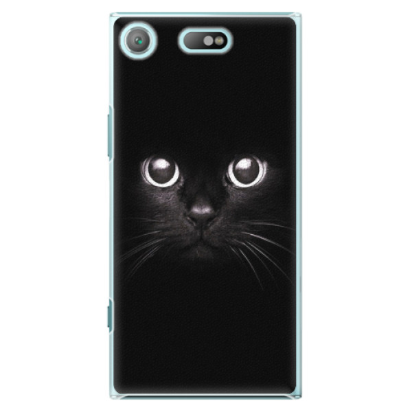 Plastové pouzdro iSaprio - Black Cat - Sony Xperia XZ1 Compact