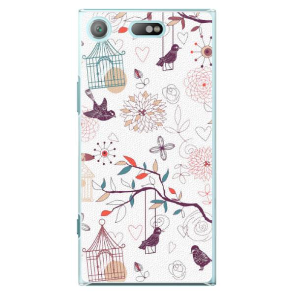 Plastové pouzdro iSaprio - Birds - Sony Xperia XZ1 Compact