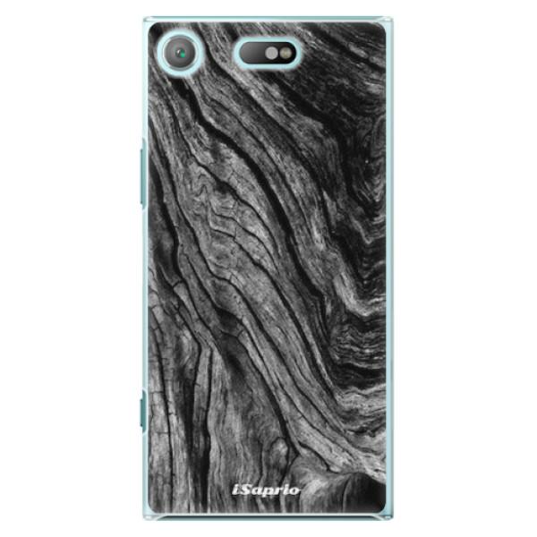 Plastové pouzdro iSaprio - Burned Wood - Sony Xperia XZ1 Compact