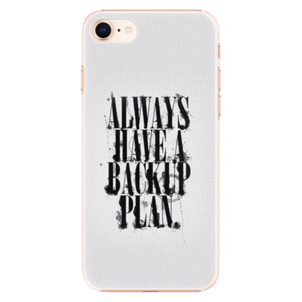 Plastové pouzdro iSaprio - Backup Plan - iPhone 8