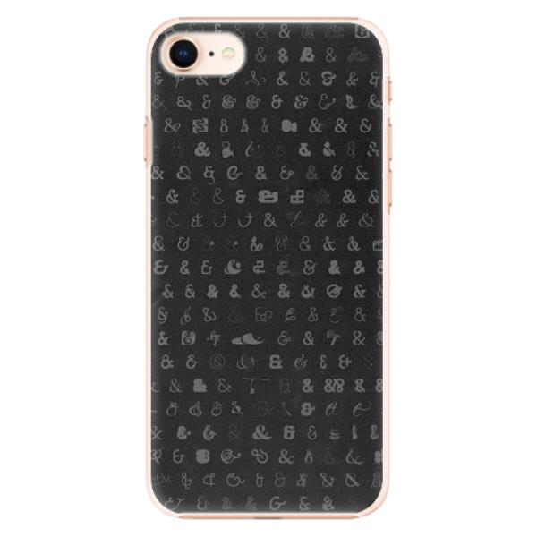 Plastové pouzdro iSaprio - Ampersand 01 - iPhone 8