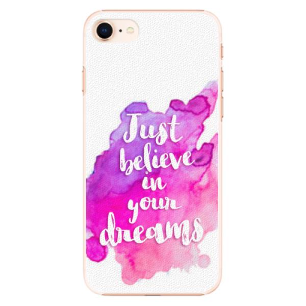 Plastové pouzdro iSaprio - Believe - iPhone 8