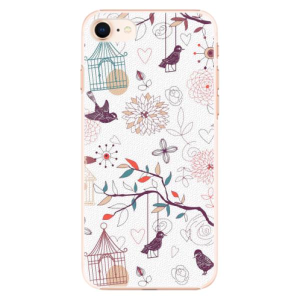 Plastové pouzdro iSaprio - Birds - iPhone 8