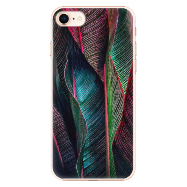 Plastové pouzdro iSaprio - Black Leaves - iPhone 8