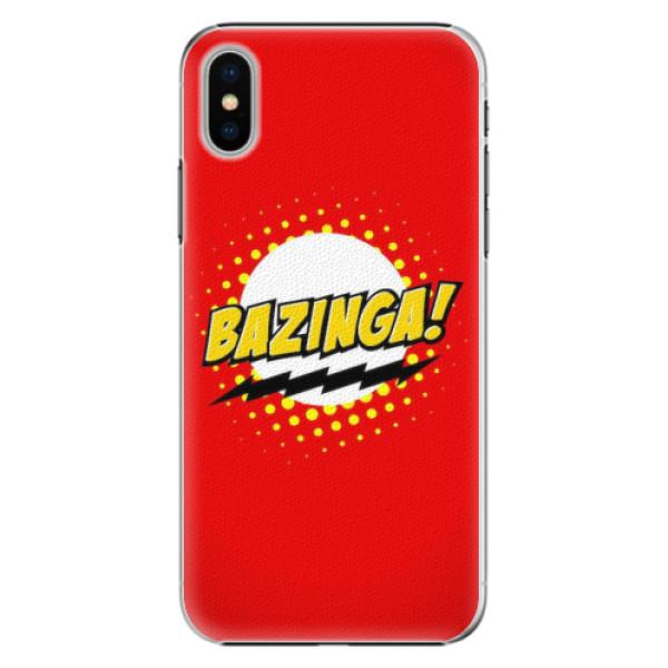 Plastové pouzdro iSaprio - Bazinga 01 - iPhone X