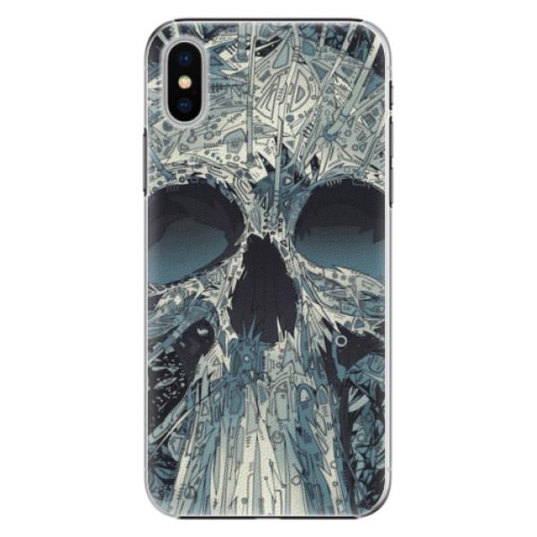 Plastové pouzdro iSaprio - Abstract Skull - iPhone X
