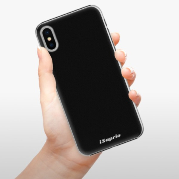 Plastové pouzdro iSaprio - 4Pure - černý - iPhone X