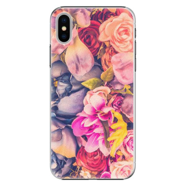 Plastové pouzdro iSaprio - Beauty Flowers - iPhone X