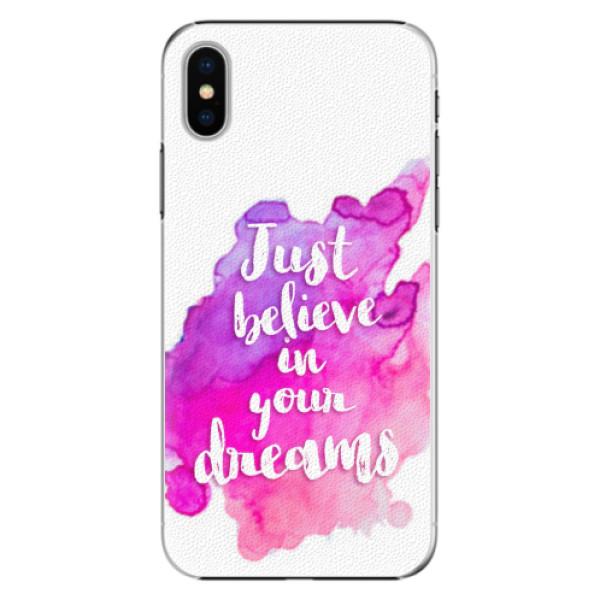 Plastové pouzdro iSaprio - Believe - iPhone X