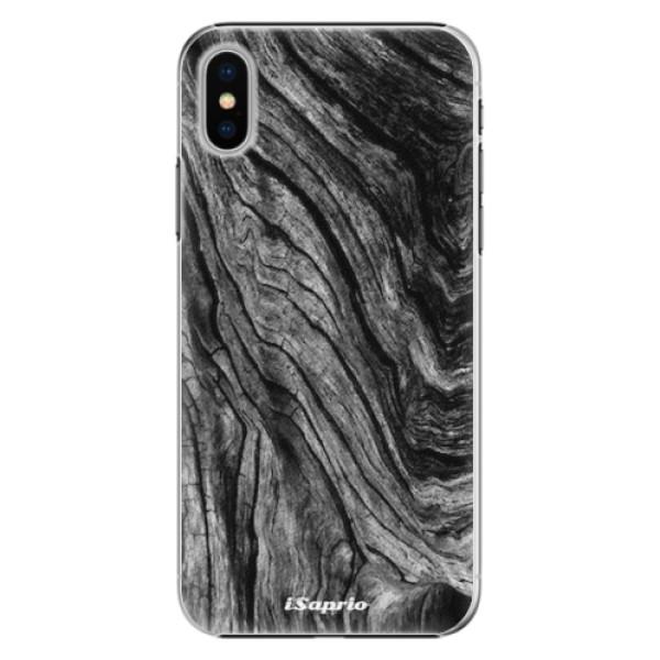 Plastové pouzdro iSaprio - Burned Wood - iPhone X